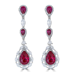 Duchess Rubelite Color Drop Earrings ON SALE