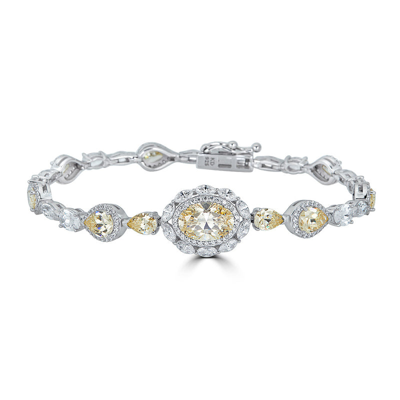 Duchess Canary Yellow Halo CZ Bracelet
