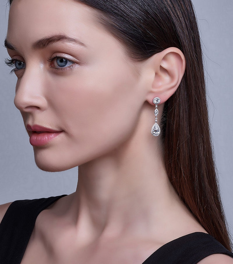 Duchess Trio Drop Earrings - Thomas Laine Jewelry