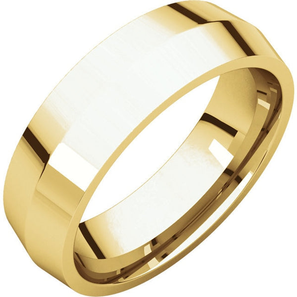 6mm Knife Edge Comfort Fit Wedding Band
