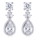 Hollywood Halo Teardrop Earrings - Thomas Laine Jewelry
