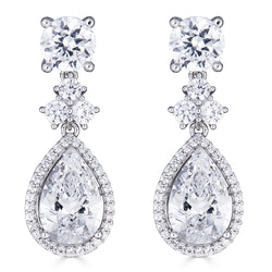 Hollywood Halo Teardrop Earrings