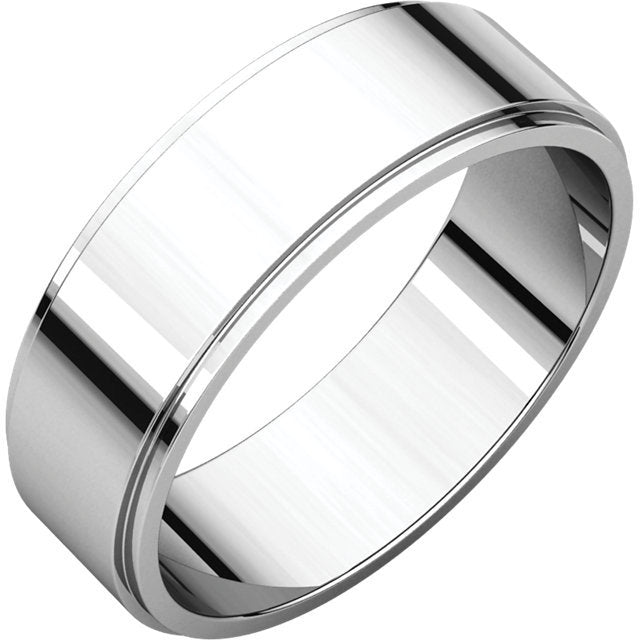 6mm Flat Edge Wedding Band