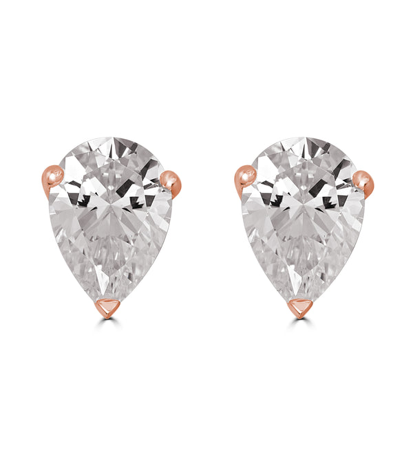 Liz Pear Stud Earrings