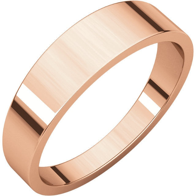 5mm Flat Tapered Wedding Band