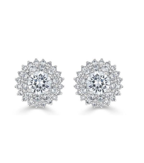 Karolyne Classic Round Cluster Earrings