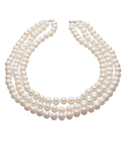 Three Strand Cultured Freshwater Pearl Necklace