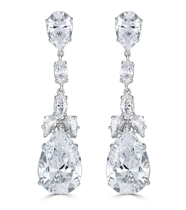 Liz Long Drop Earrings - Thomas Laine Bridal Earrings