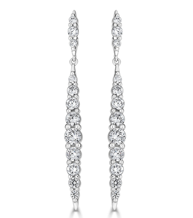 Karolyne Tapered Sparkling Drop Earrings