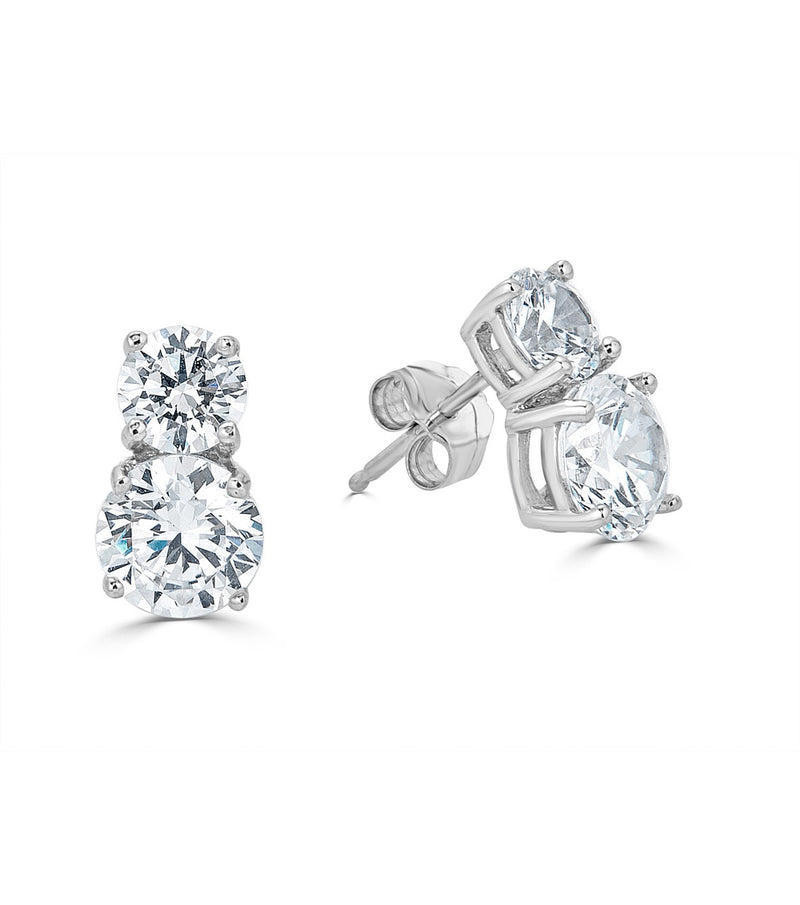 Karolyne Double Round Stud Earrings - Thomas Laine Jewelry