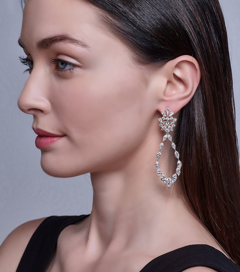 Marquise Statement Earrings