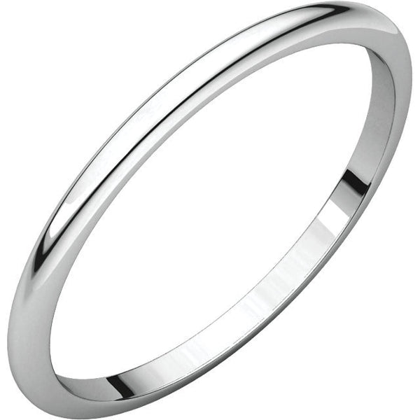 1.5mm Half Round Wedding Band