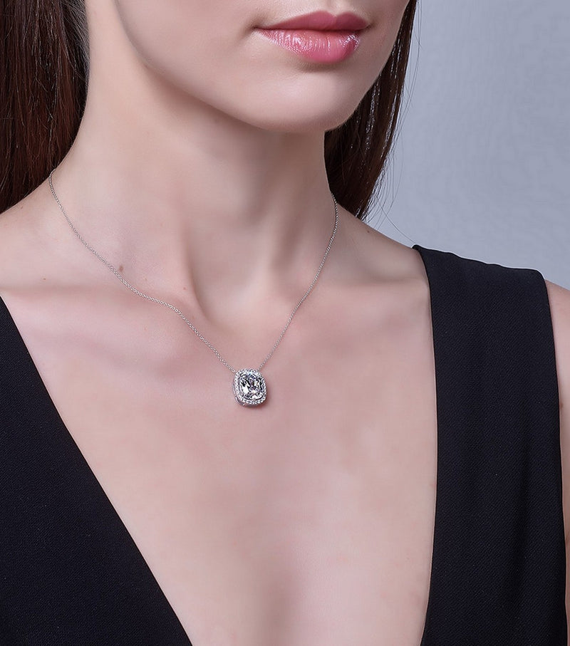 Hollywood Halo Antique Cushion Cut Pendant