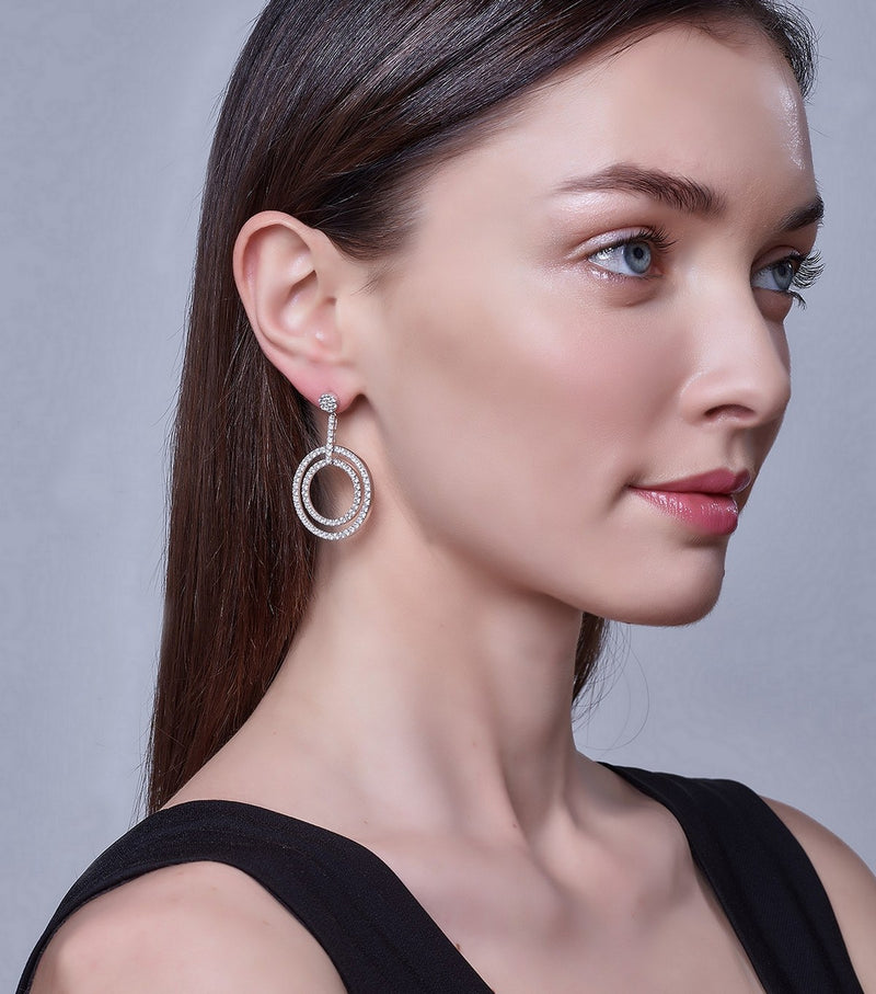 Hollywood Double Hoop Earrings