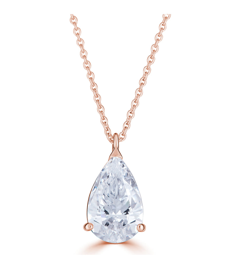 Liz Pear Pendant Necklace