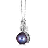 Hollywood Halo Pearl Pendant - Thomas Laine Jewelry