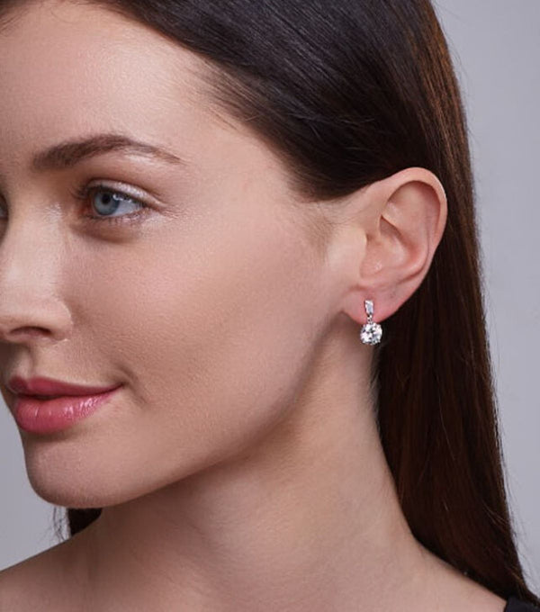 Karolyne Classic Round Drop Earrings - Thomas Laine Jewelry
