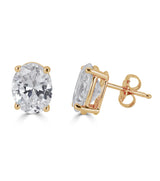 Liz Oval Stud Earrings - Thomas Laine Jewelry