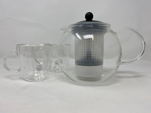 Bodum Glass Teapot with Plastic Infuser Press