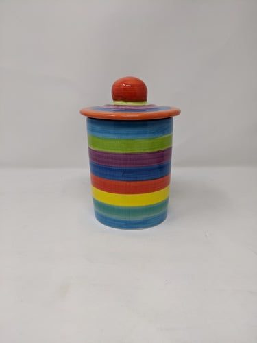 Reckless Candy Stripe Tea Caddy