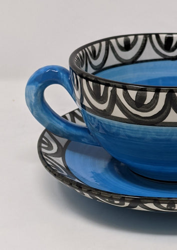 Reckless Large Aztec Breakfast Cup and Saucer