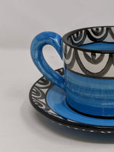 Load image into Gallery viewer, Reckless Medium Aztec Cup and Saucer