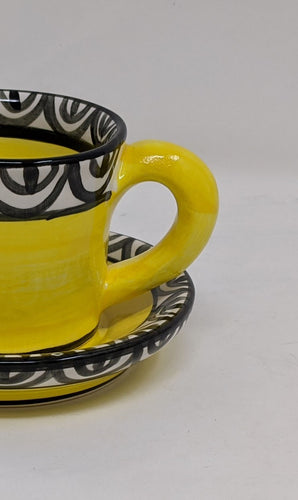 Reckless Espresso Aztec Cup and Saucer