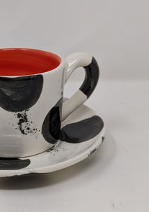 Reckless Spot Medium Cup and Saucer