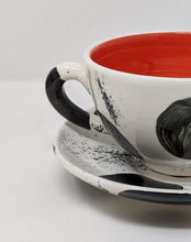 Load image into Gallery viewer, Reckless Large Spot Breakfast Mug and Saucer