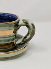 Load image into Gallery viewer, Reckless Espresso Lustre Horizontal No.09 Cup and Saucer