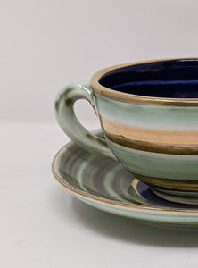 Reckless Large Lustre Horizontal No.9 Breakfast Cup and Saucer
