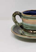 Load image into Gallery viewer, Reckless Medium Lustre Horizontal No.09 Cup and Saucer