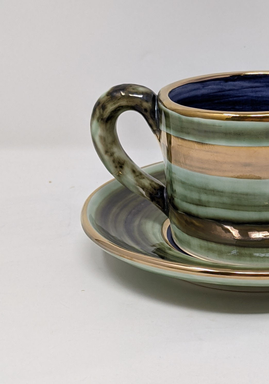 Reckless Medium Lustre Horizontal No.09 Cup and Saucer