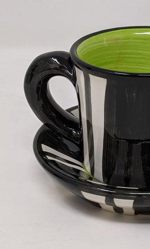 Reckless Espresso Broad Stripe Cup and Saucer
