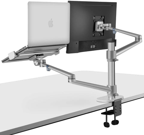 "Double Arm for 1x 17-27"" Monitor + 1x 12-17"" Laptop"