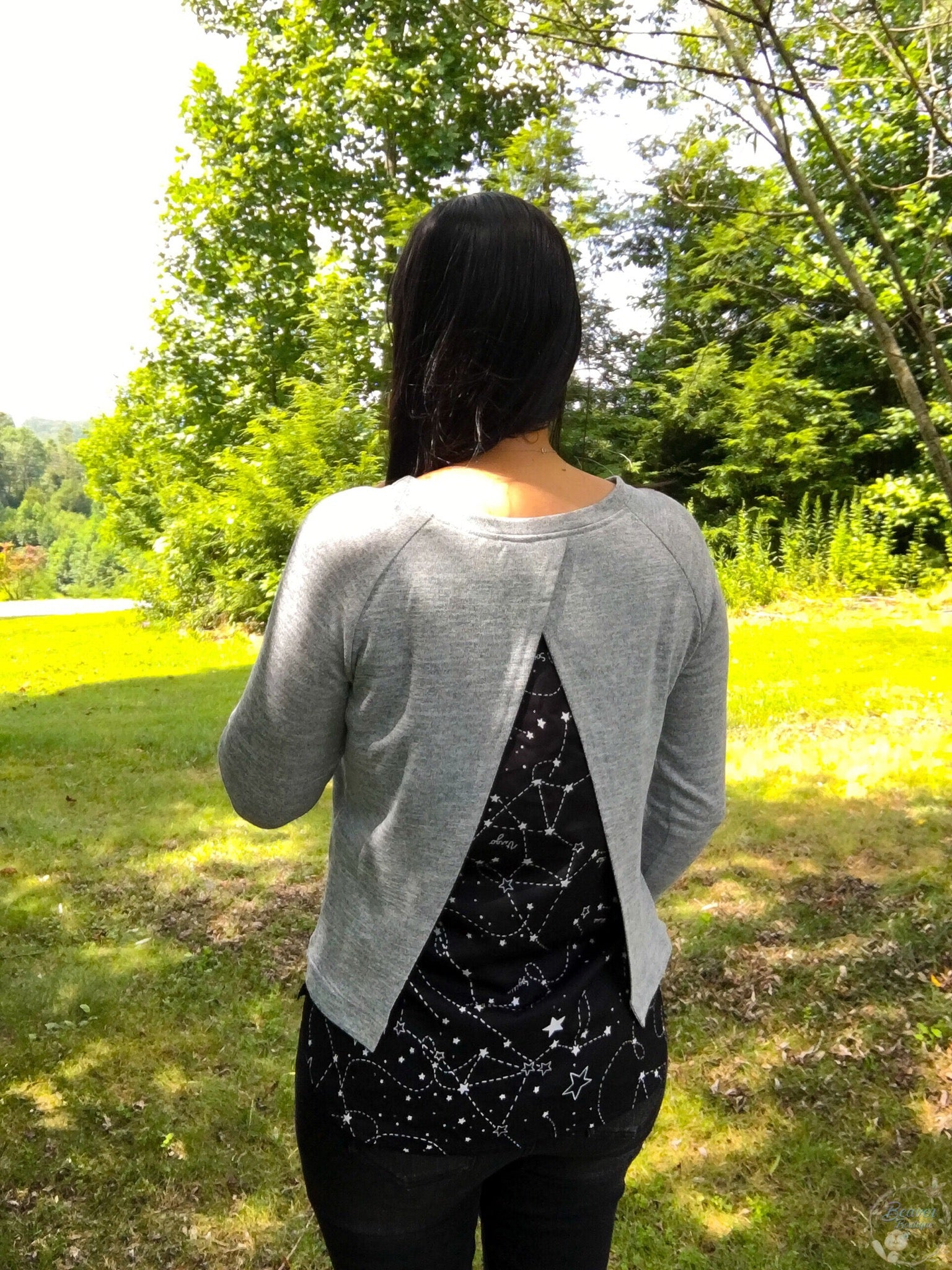 Split In The Back Sweater- Celestial