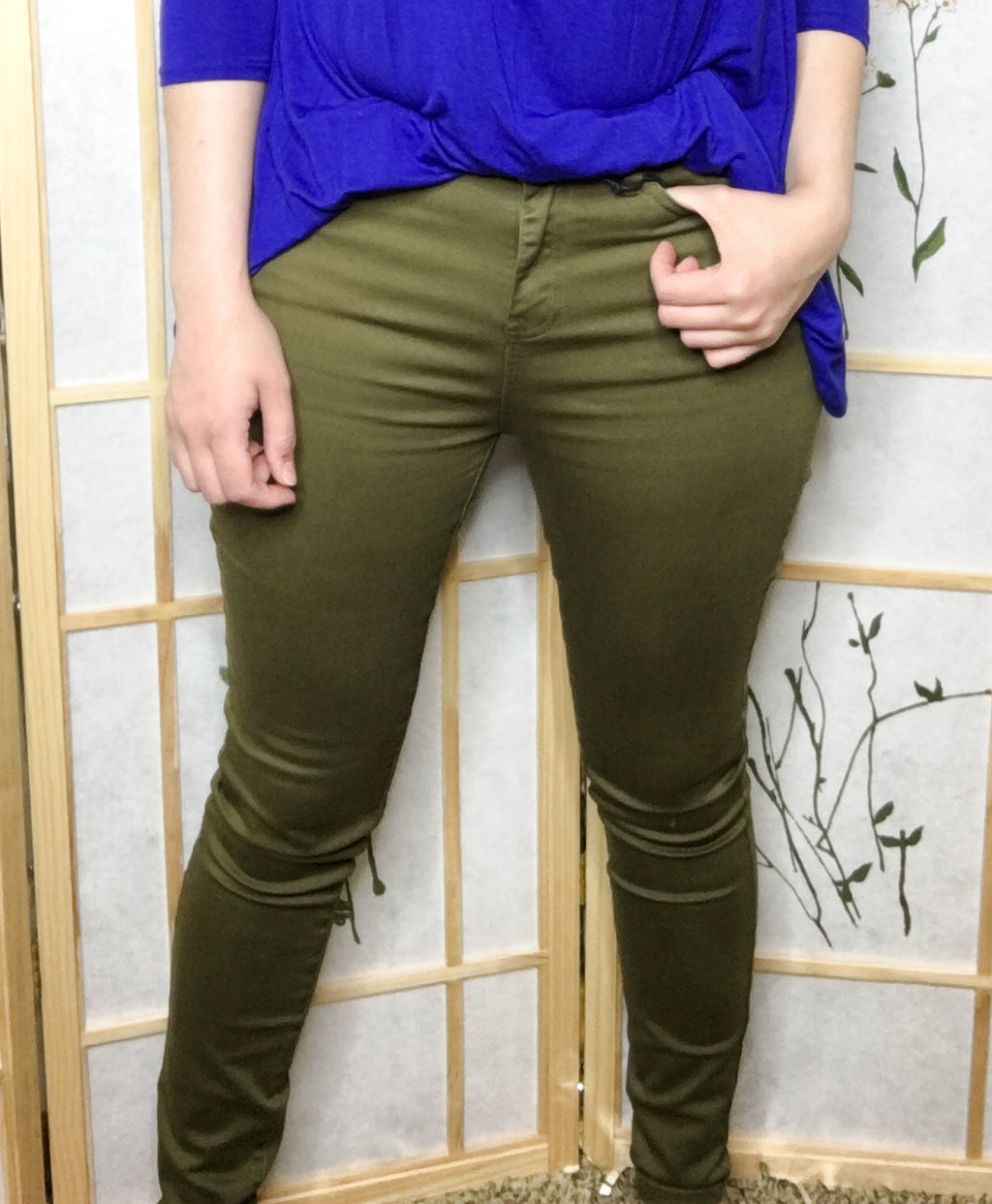 Judy Blue Olive High Waisted Skinny Jeans