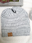 Grey Cable Knit- Beanie