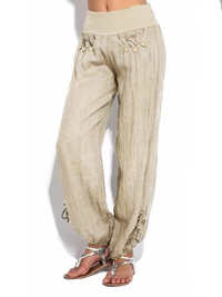 Casual Loose Button Wide Leg Pants