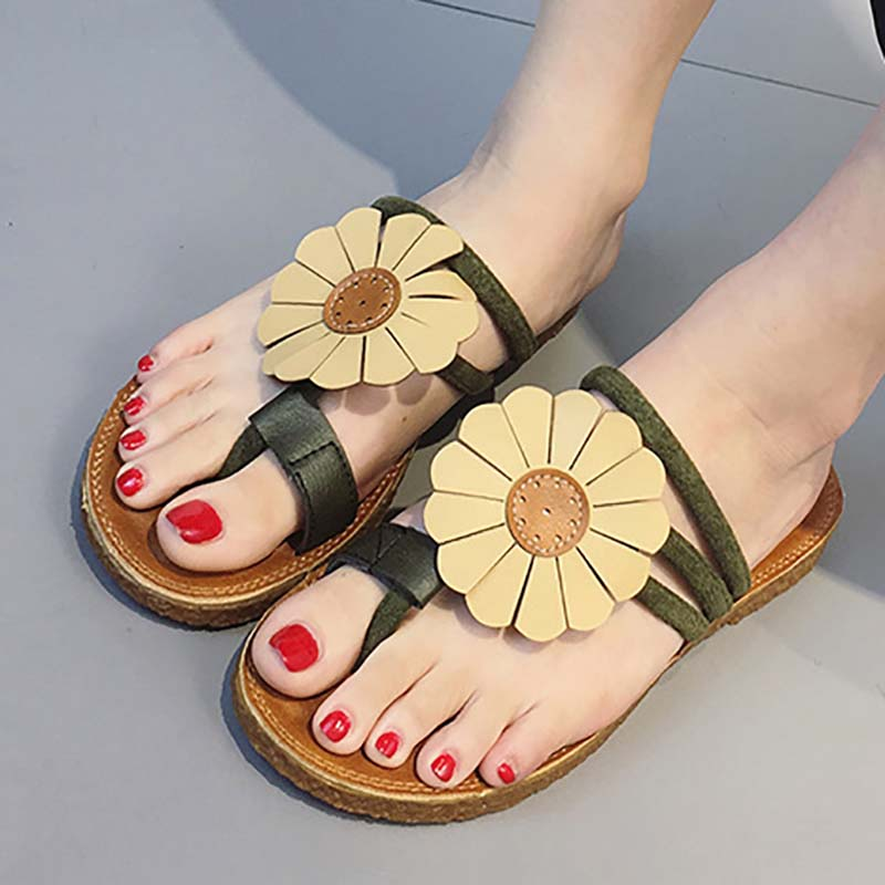 Holiday Flower Suede Sandals
