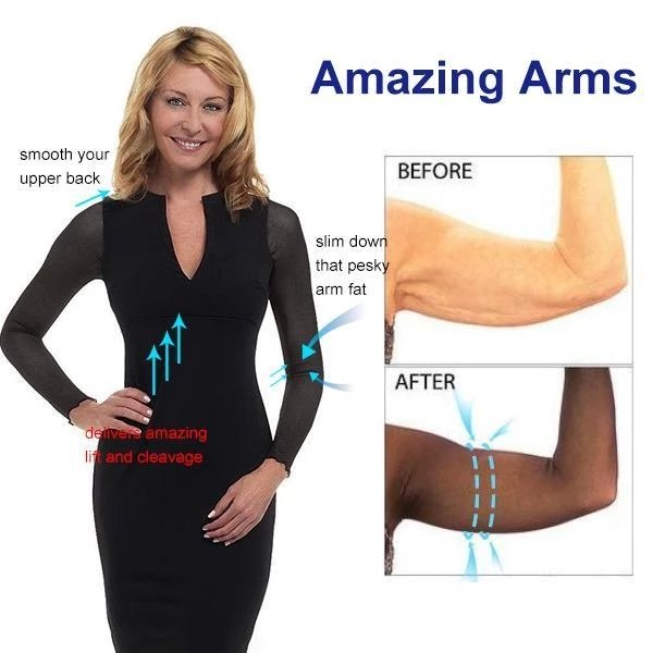 Slip-on Mesh Sleeves Seamless Arm Shaper
