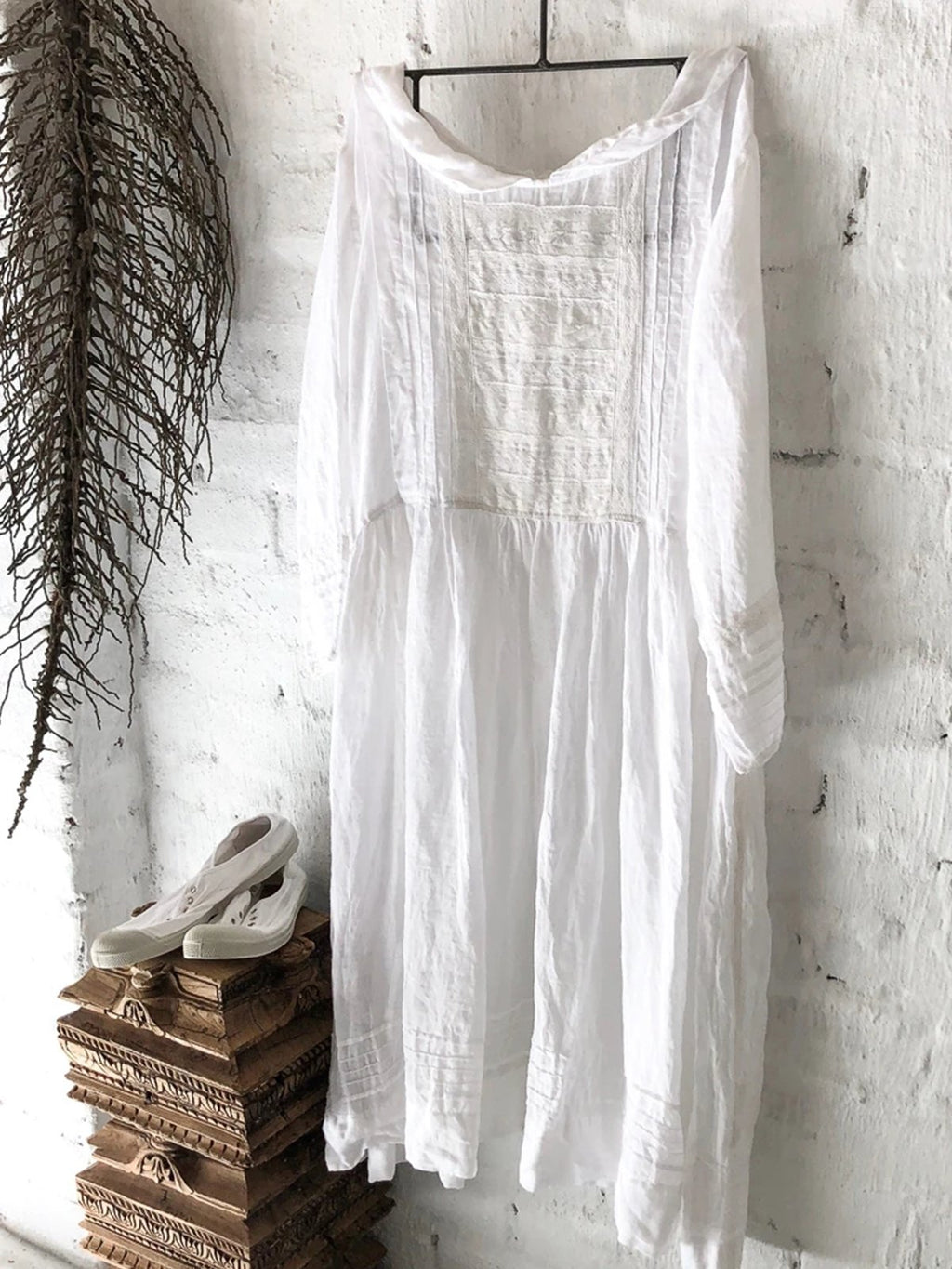 Linen Long Sleeve Casual Dresses