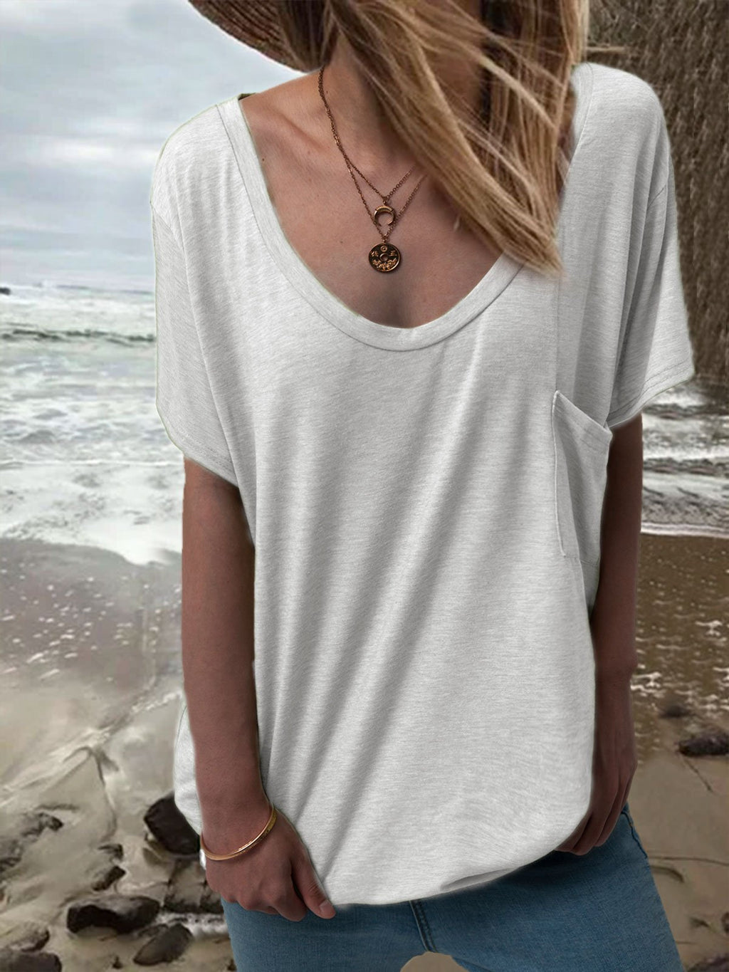 Women Summer Basic T Shirt Tops Tee