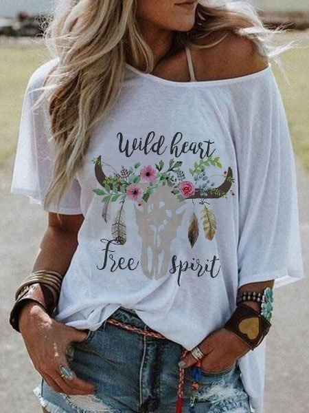 Casual  Top Hippie Printed