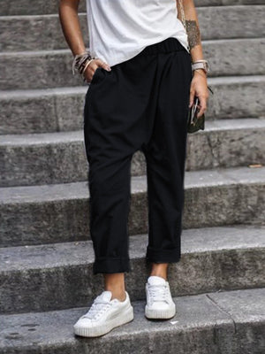 Casual Pockets Pants