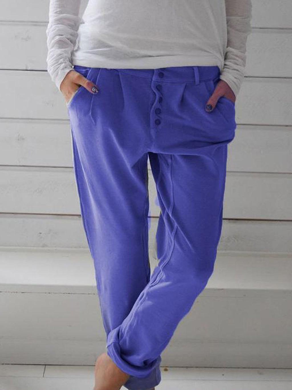 Cotton Solid Pants