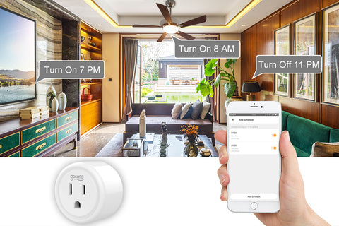 Create pre-set schedules to get things going even in your absence with this Smart Plug Google Home.