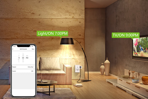 Gosund 2 in1 Wi-Fi Outlets can be scheduled