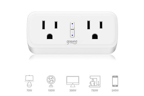 2 in 1 Compact Size Smart Plug