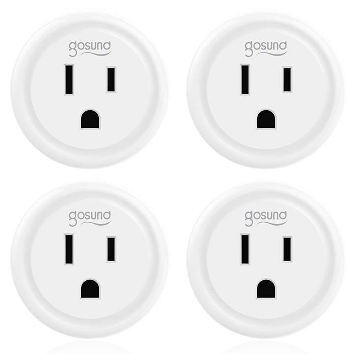 Gosund Smart plug Wifi Outlet Works With Alexa, Google Home, No Hub Required, Remote Control Your Home Appliances from Anywhere, ETL Certified,Only Supports 2.4GHz Network 4 Packs (Only for USA)